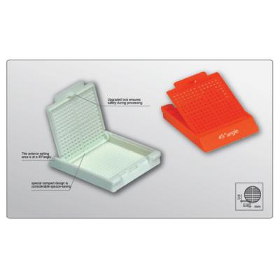 Cassette Color Aqua de Embebido Modelo EM111 para Biopsia