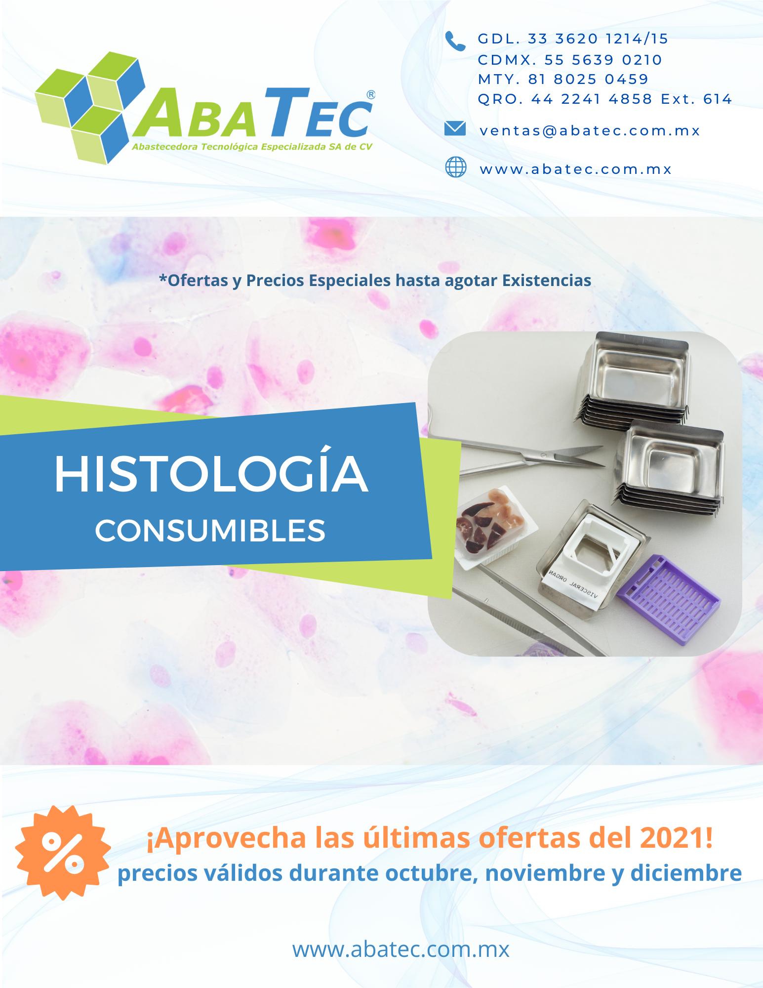 Catálogo de Consumibles de Histología