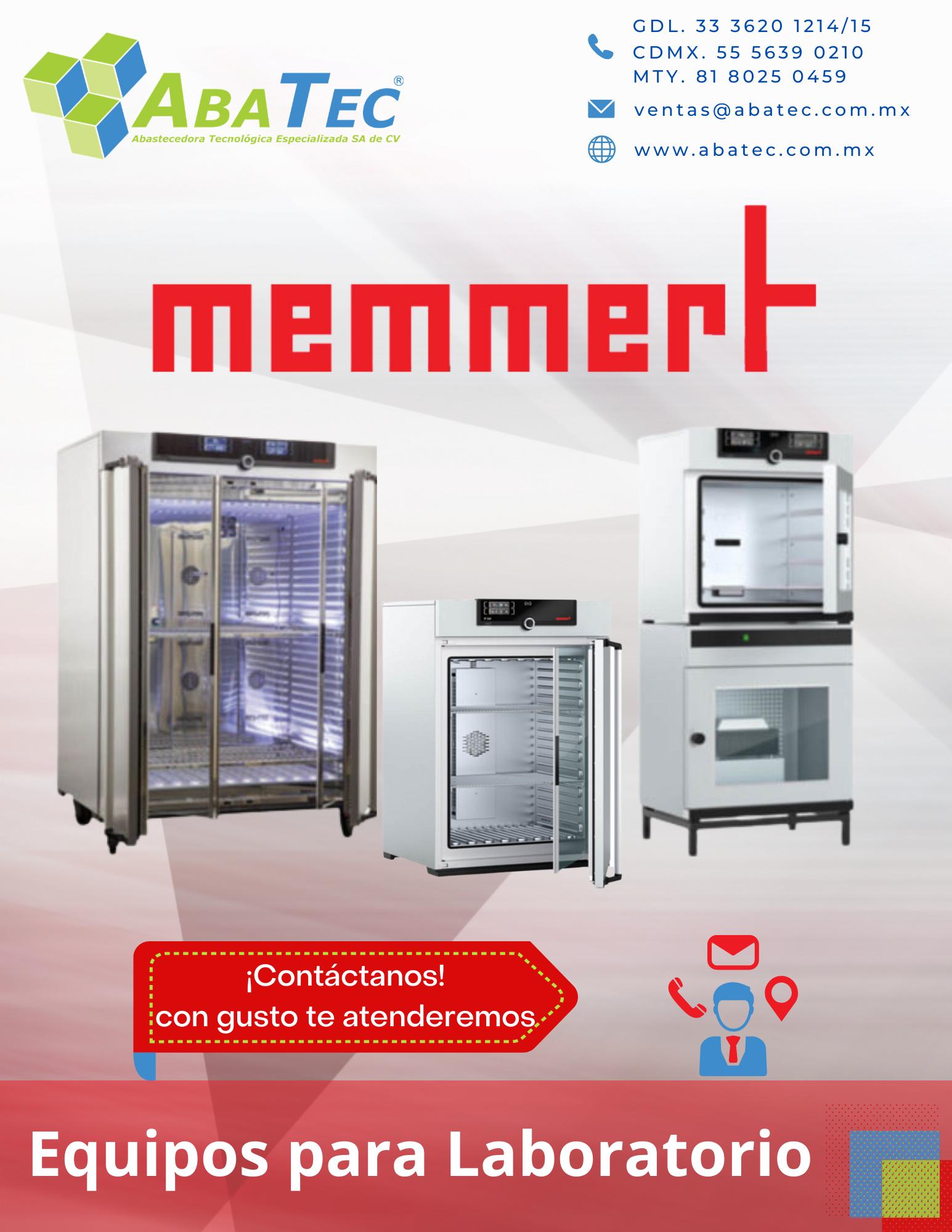 Catálogo de Equipo de Laboratorio Memmert