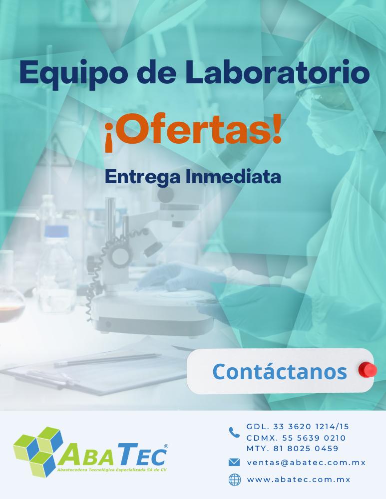 Catálogo de ofertas de equipo para laboratorio