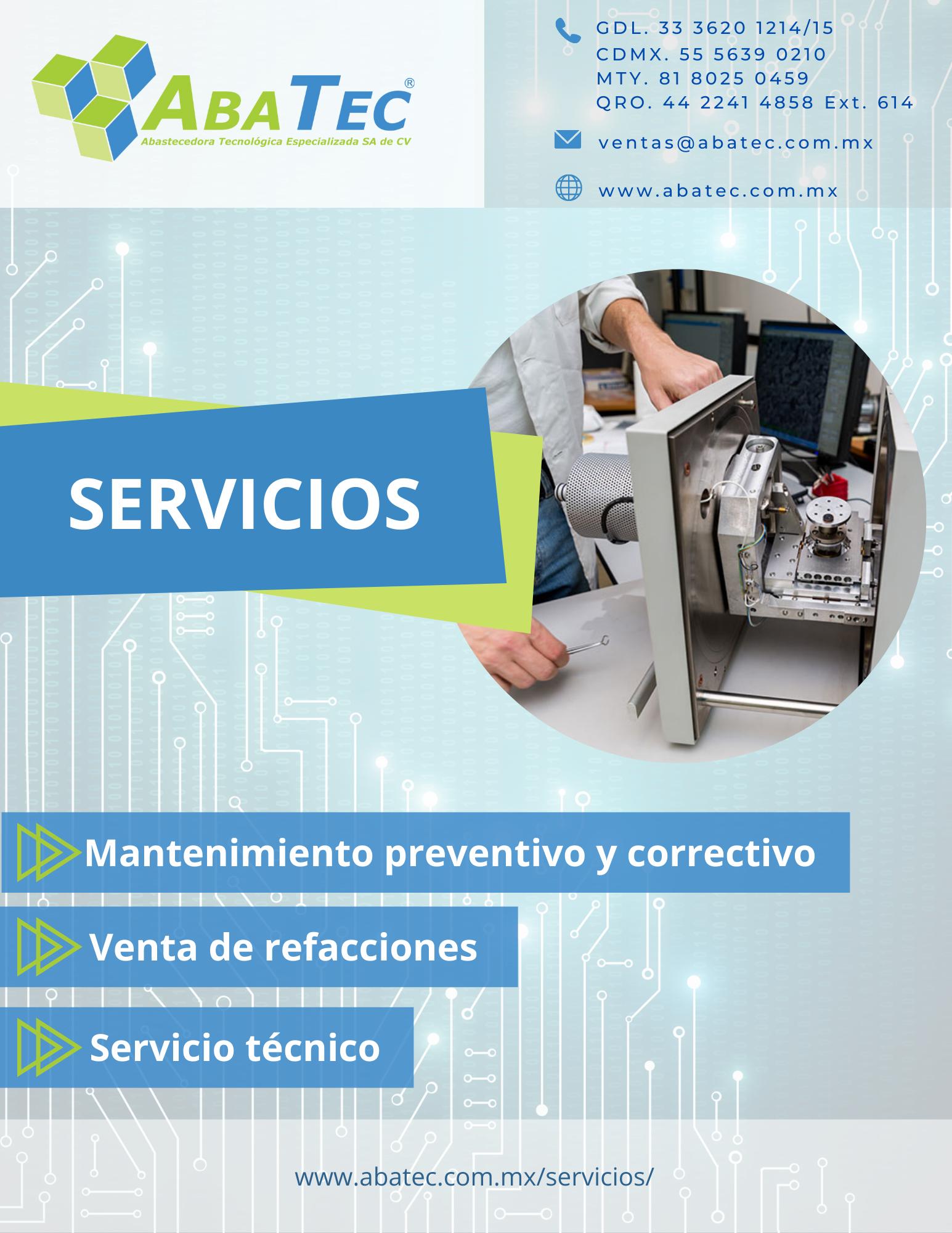 Catálogo de Servicios y Pólizas de Mantenimiento de Equipo para Laboratorio