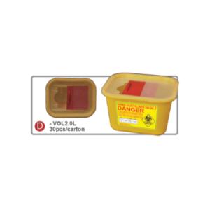 contenedor 2L para desechos peligrosos