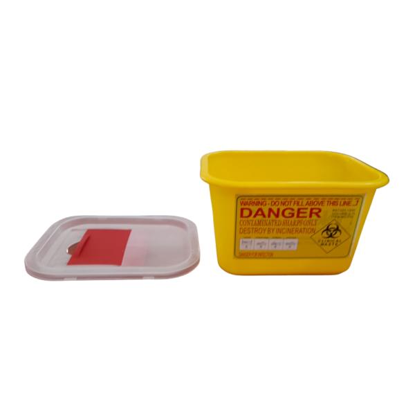 Contenedor 2L para desechos peligrosos amarillo