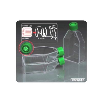 frasco para cultivo celular con tapa con filtro de la marca citotest